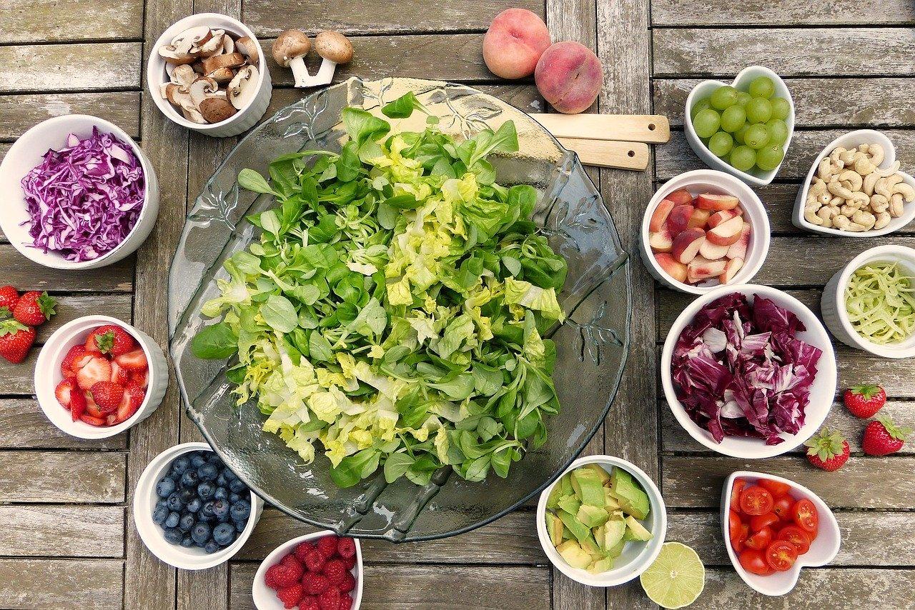 Salade et produits bio